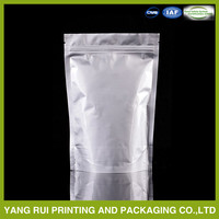custom printed aluminum foil zipper bag/small mini aluminum foil ziplock bags