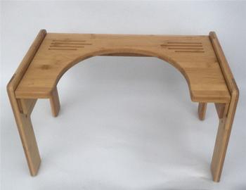 Conveninent bambù poggiapiedi di mobili di bambù per wc accovacciata