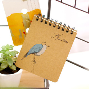 Small kraft paper spiral notebook with hardcover custom printing