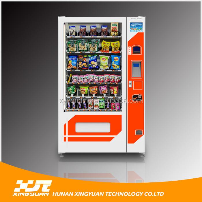Snack Vending Machine With Fingerprint Cold Bottled Drink Vending ...