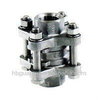 3 pc spring vertical check valve threaded 1000 PSI China Factory