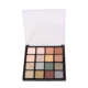 16C eye shadow Waterproof cosmetic package with Clear cap and injection black case your own brand