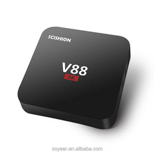 Soyeer V88 Full Sexy Hd Video Download Rk3229 Digital Tv Box Pre-Installled Kodi 16.1 Android Tv Box