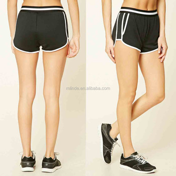 Women Fashion Active Striped Dolphin Shorts Polyester Spandex Boxer Shorts High Quality