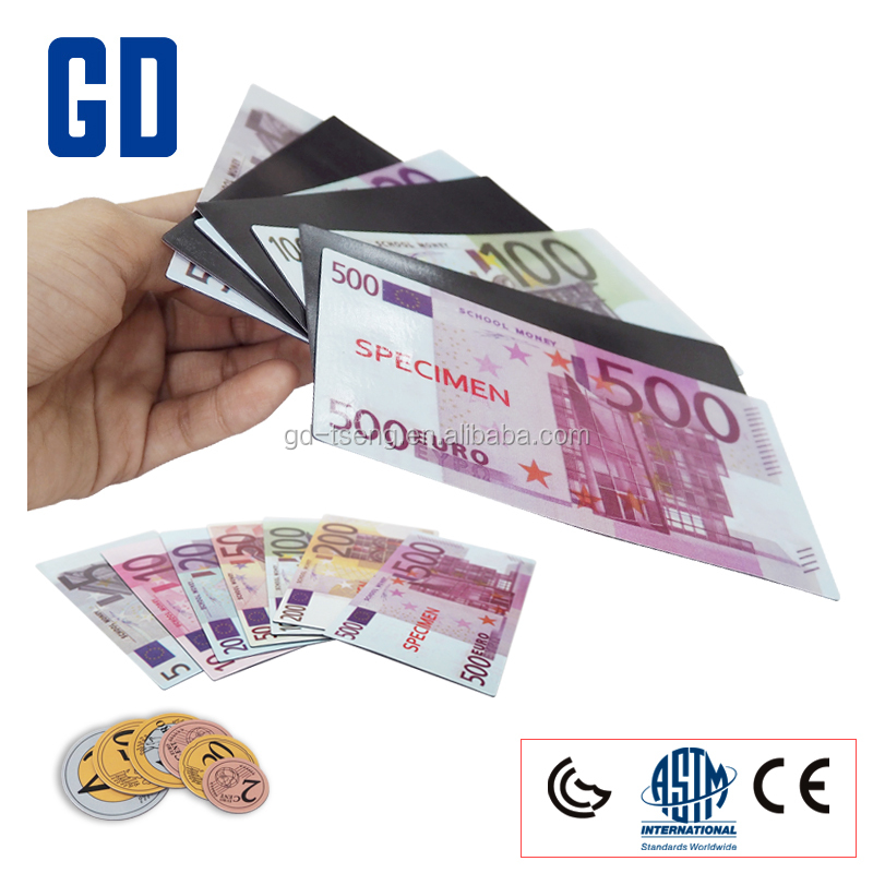 GD-2017 NEW Play Money with magnet/euro play money/Banknote toy