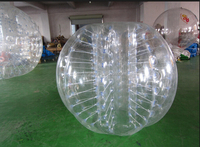 Human Inflatable Pvc / Tpu Bumper Bubble Ball