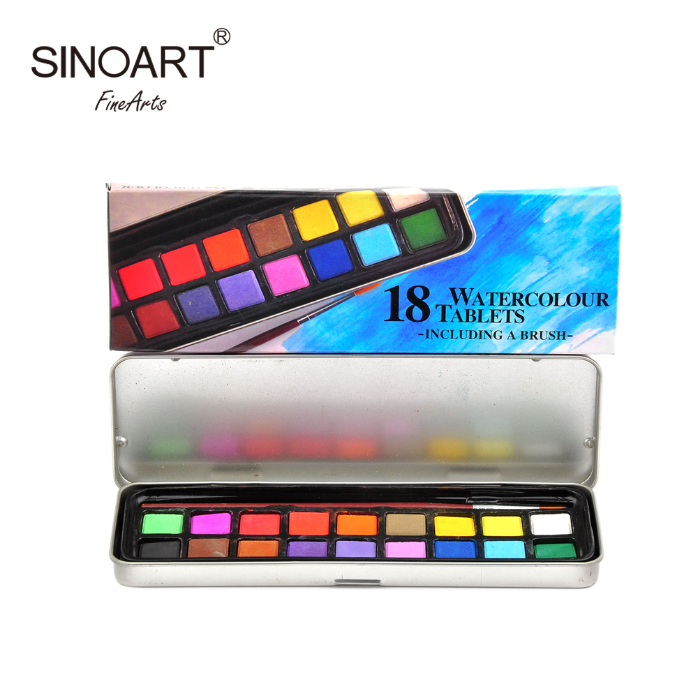 Non-Toxic 24 36Colors plastic Box Solid Water Color Paint Set For School Children