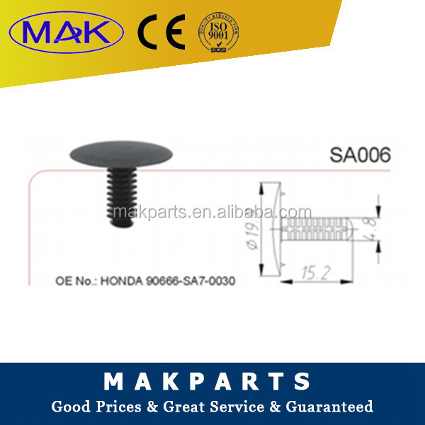 MAK High quality auto car body Plastic Trim clips and fasteners FORHONDA 90666-SA7-0030