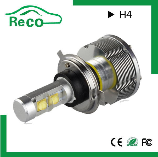 wholesale top quality h4 led car headlight bulb high beam and low beam h4 30w auto led headlight. Black Bedroom Furniture Sets. Home Design Ideas