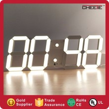 New Design White Shaped Digital LED Wall Clock