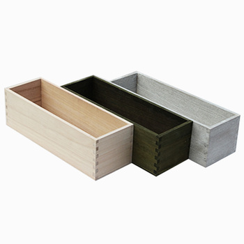 Wholesale Balsa Wood Boxes Rectangular Wood Planter Box For Home