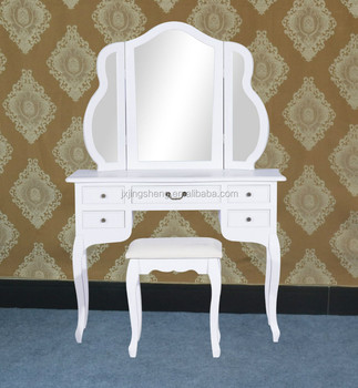 New Makeup Jewelry Vanity Set Table Chair Mirror White Buy
