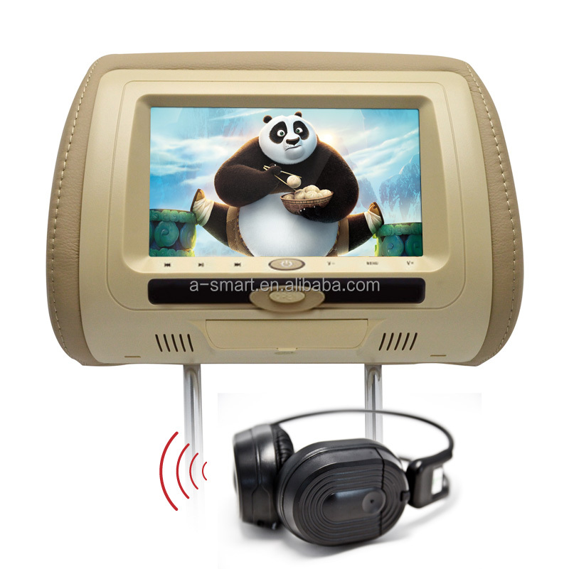 New Arrival 7 Inch Car Bracket DVD Player SD+USB+FM+IR+MP4+DIVX Remote Control+Dual Speaker+GAME