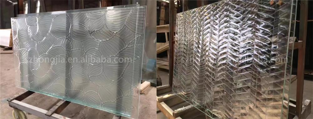 high quantity decorative hot melt fused glass art glass partition for sale