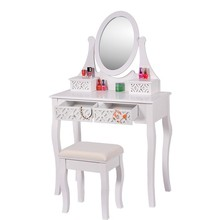 Furniture Bedroom Mirrored Dressing Table With Drawers