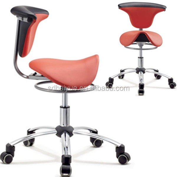 modern design tattoo chair saddle seat stool for beauty salon with high quality wheels