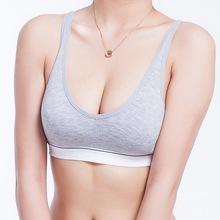 Fashion Women 100% Cotton bust Push Up Yoga Sports Bra Underwear Bra 70 75 80 85 Size (32 34 36 38)