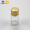 10ml glass tube essential oil bottle with golden cap
