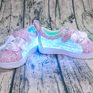 Luminous Shoes Fashion LED Sports Fiber Optic Shoes For Kids Boys Girls