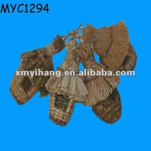 Natural material hand made straw bird nest