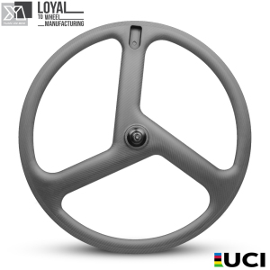 Yuan'An OEM 700C three spoke bicycle wheels carbon three spoke wheel 3K UD 12K Clincher Carbon fiber road bike wheelset
