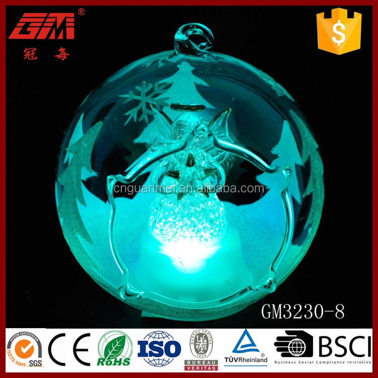 China factory sell indoor open led glass ball ornaments