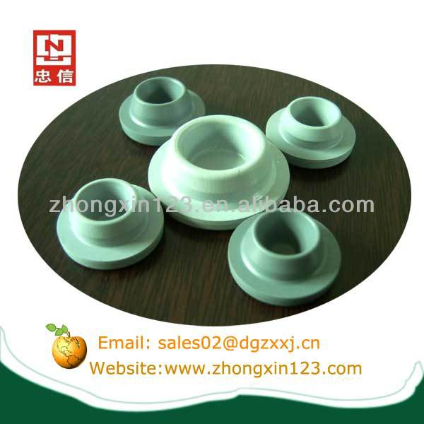 Silicone glass vial stopper caps for injection