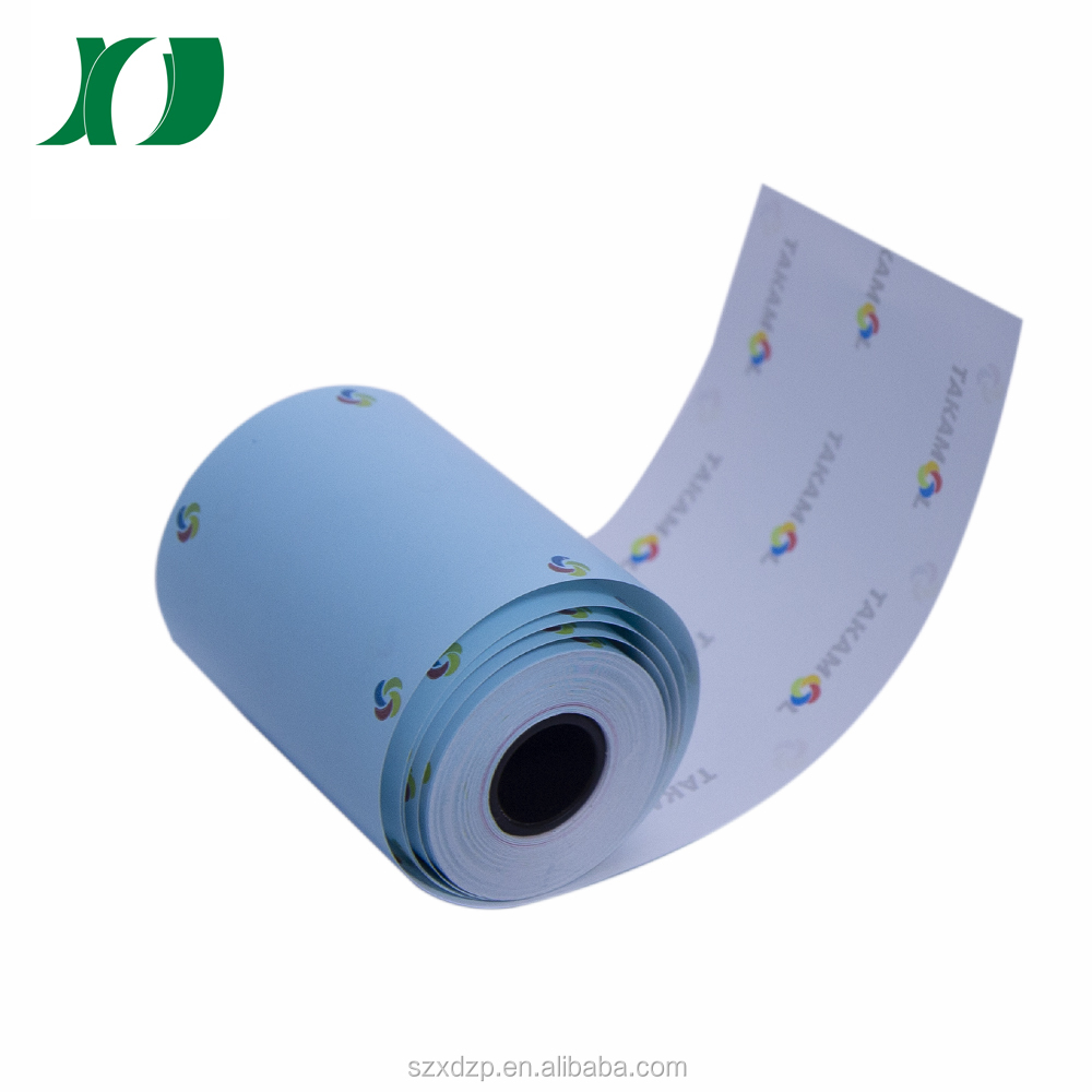 57*50 printed colorful thermal paper roll bank printing