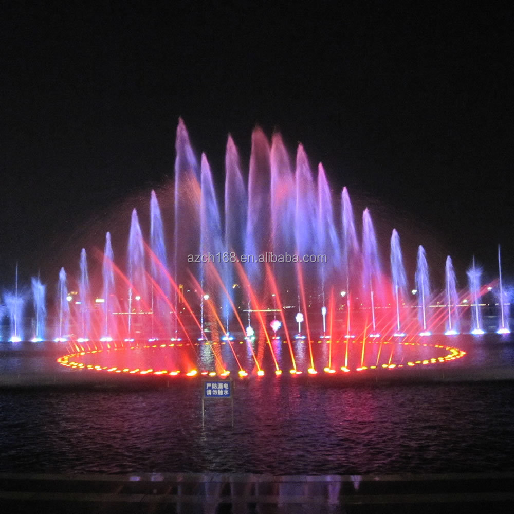 Large Outdoor Decorative Fountain Music Water Fountain With Color Changing Fountain  Light For Lake