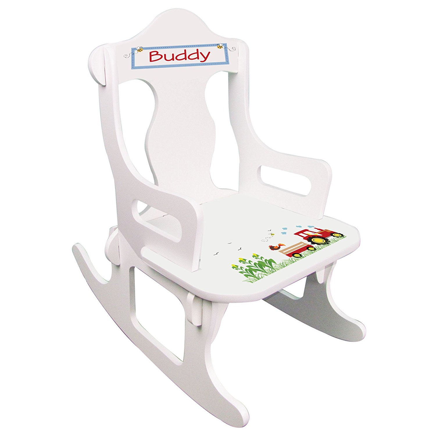 Personalized Red Tractor Puzzle Rocker
