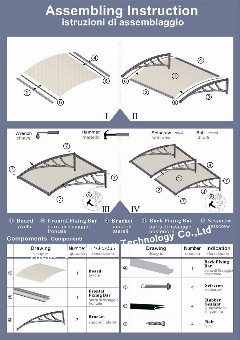 800 wide polycarbonate sheet porch door roof canopy silver. Black Bedroom Furniture Sets. Home Design Ideas