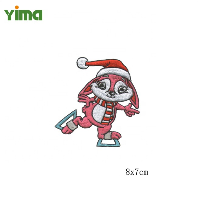 크리스마스 동물 산타 클로스 바느질 자수 크리스마스 패치