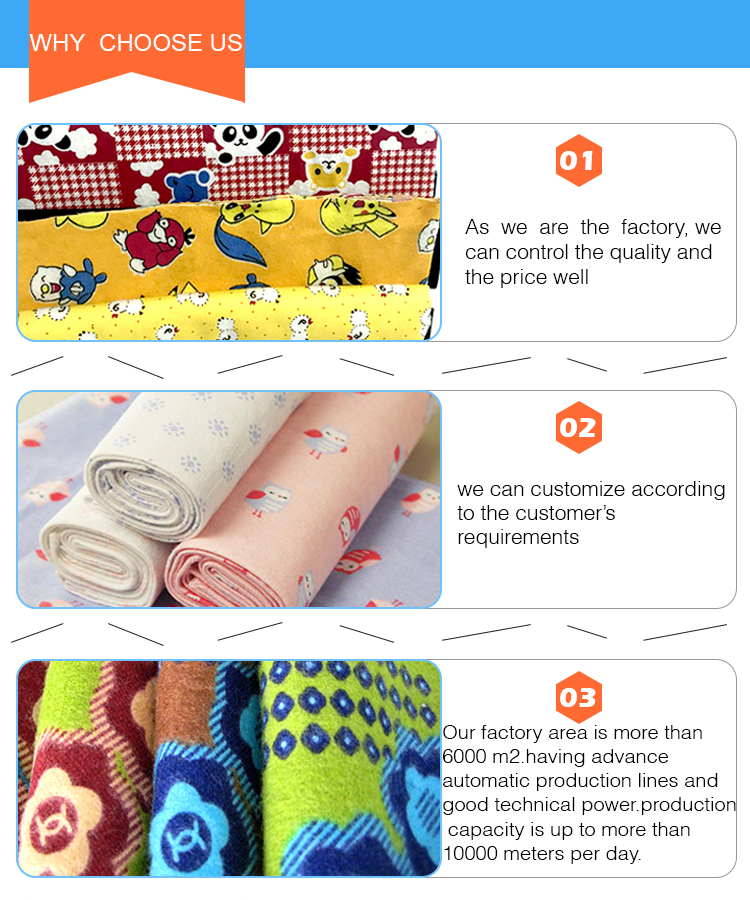 2018 hot sale little star prints cotton flannel fabric for sleep clothes kids