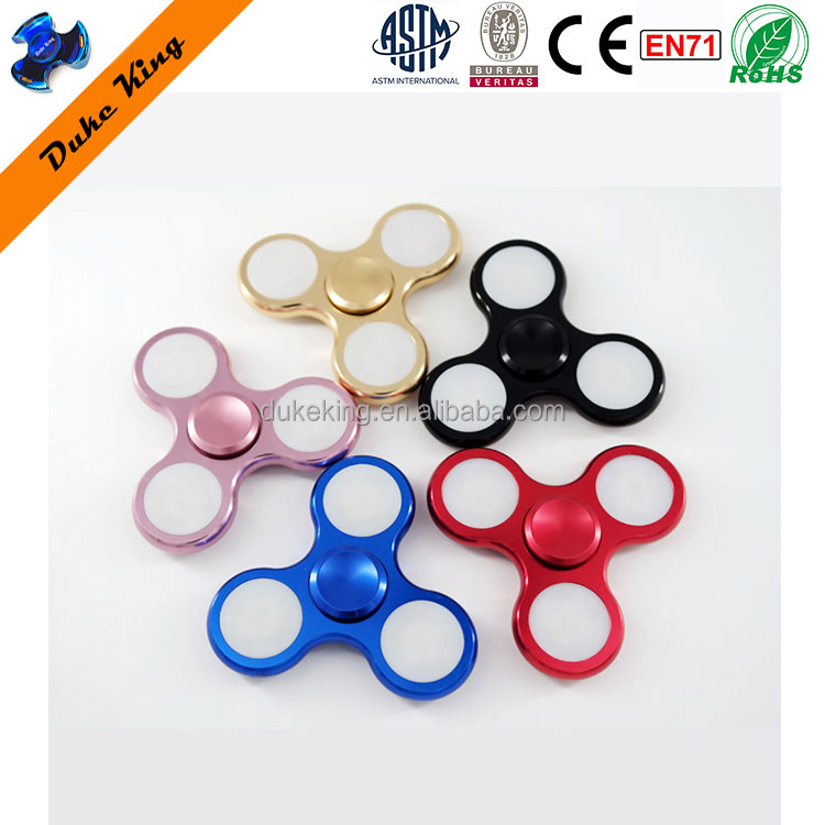 Metal Fidget Hand Spinner Toys With LED Light - DK120 Finger Spinner Spinners