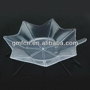 Hot selling catering food party wedding pudding serving plastic disposable balti dish