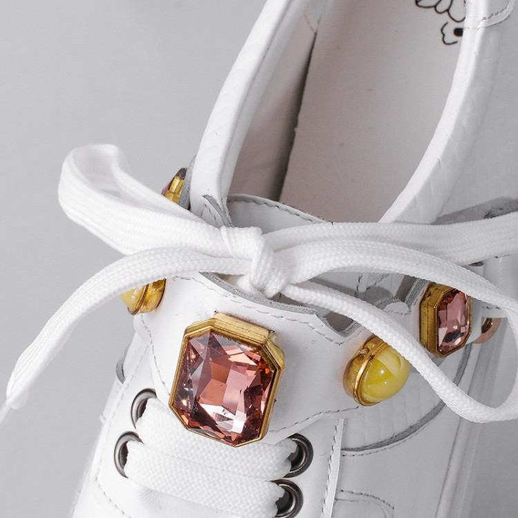 White Sneaker Women Sport Casual Selling Shoe Rhinestone Spring Hot EqwIxUv7U