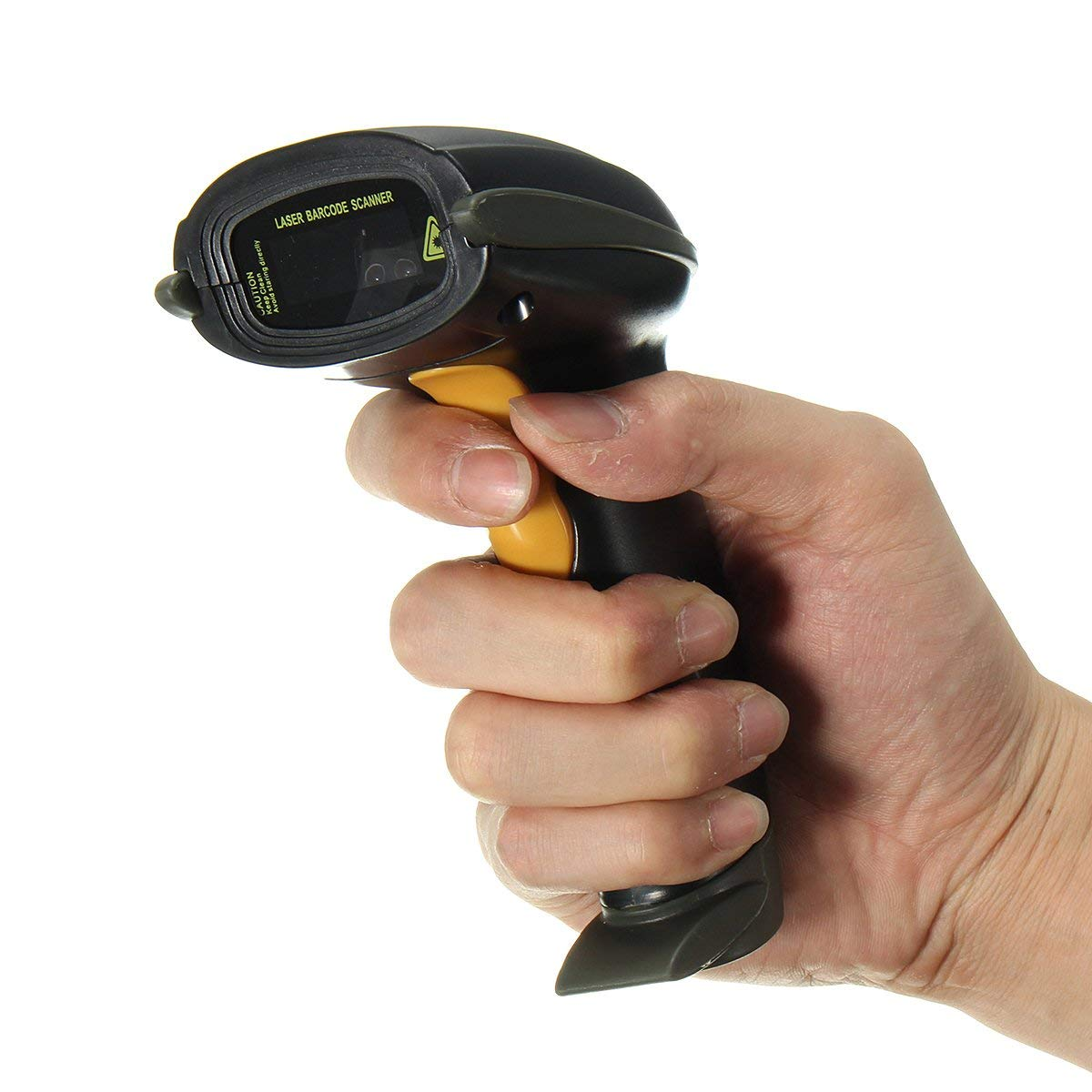 Handheld POS USB Laser Barcode Scanner Automatic Barcode Scan Reader with Stand