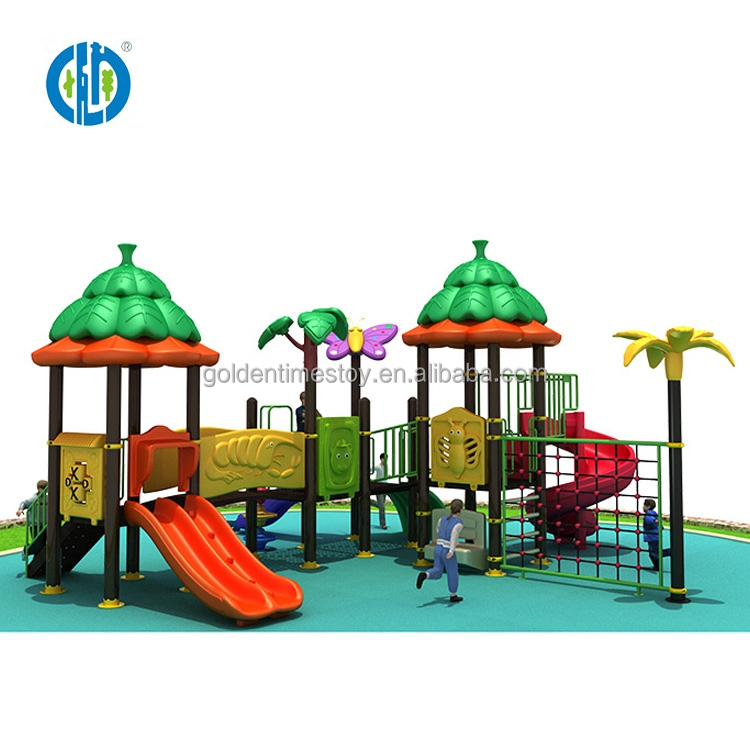 2018 Attractive kids commercial plastic outdoor playground equipment sale