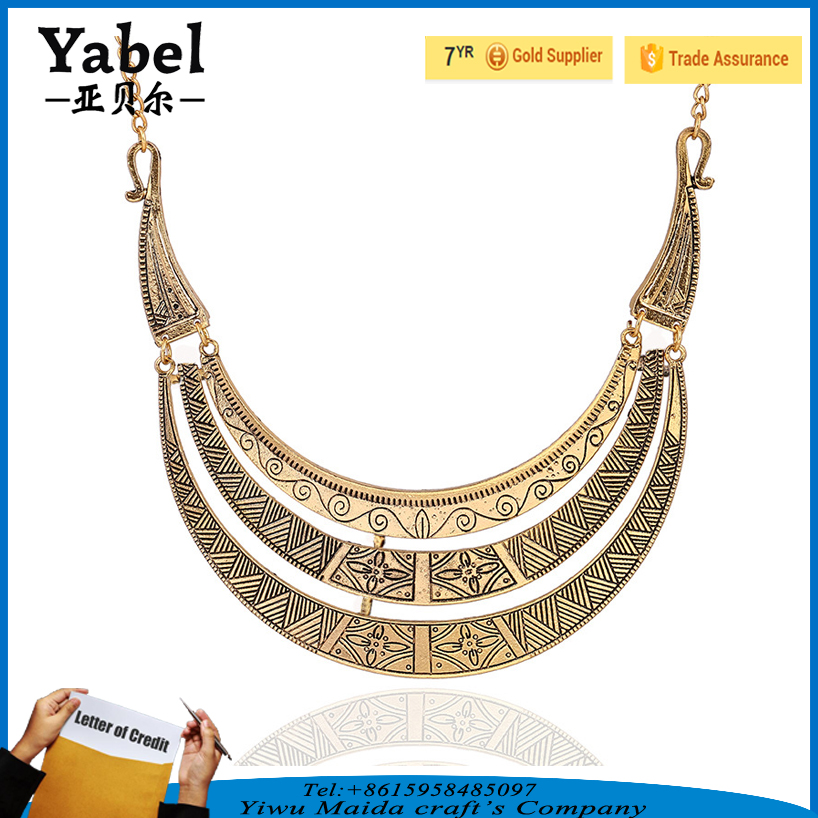 Statement Necklace 2017 African Totem Full Neck Covering Necklace Design Women Necklace