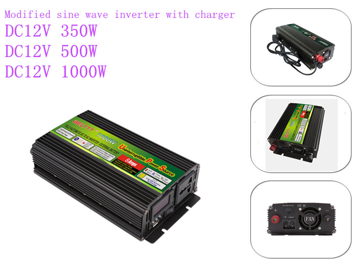 500w 1000w 1500w 2000w 2500w 3000w ups 12v 220v power inverter 1kva inverter with charger