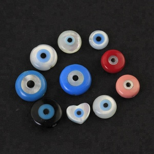 Hot sale natural gemstone pearl shell price evil eye stone