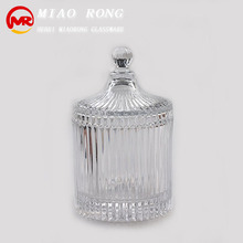 Wholesale glass candle jars with lid