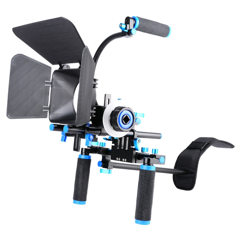 YELANGU DSLR Rig Movie Kit Shoulder Mount+Matte Box+C-shaped Support Bracket