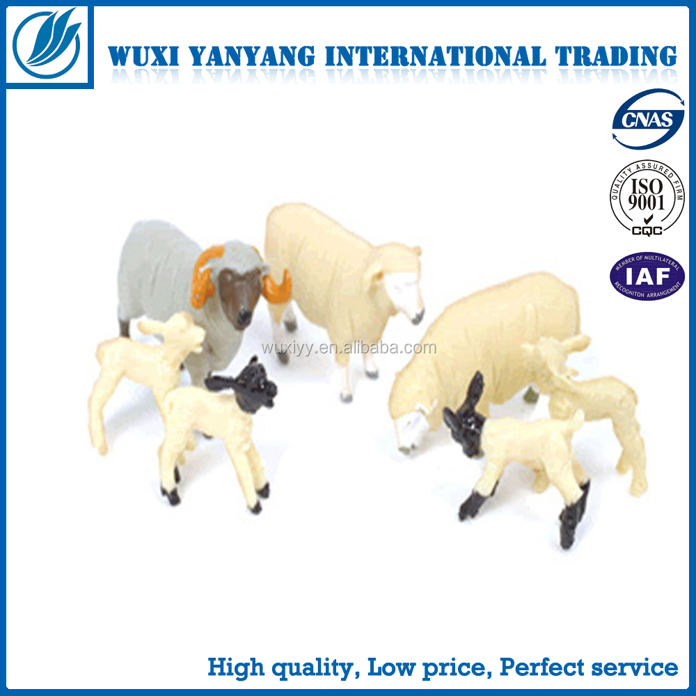 OEM plastic Sheep figurne farm animal set PVC animal stuffed toy for kids