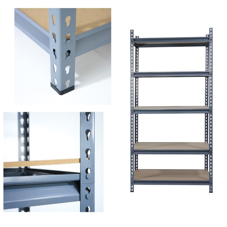 Warehouse Light duty Boltless Rivet Shelving With MDF Board