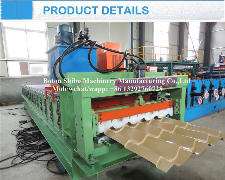 Shibo Brand 752 Arc Glazed Tile Roll Forming Machinery/ Green ...