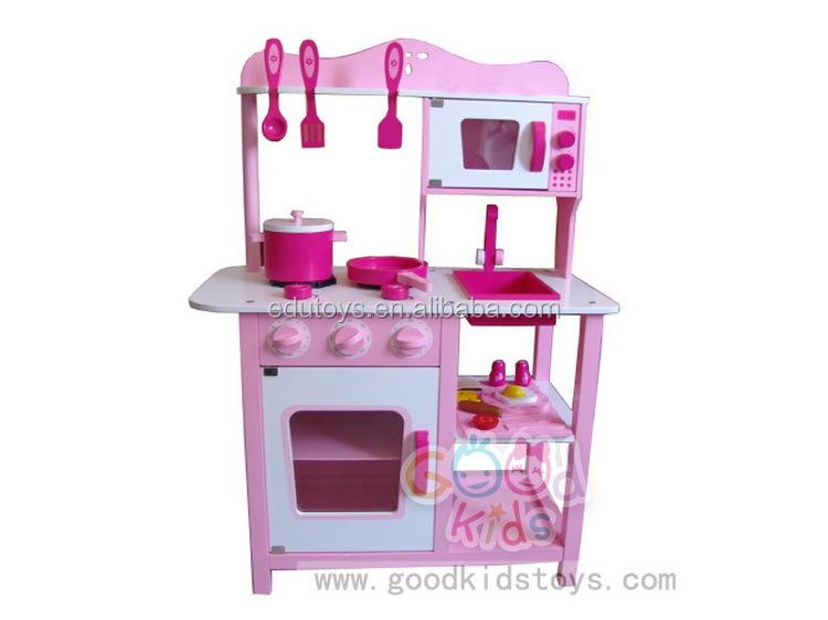 Houten Speelgoed Keuken : Mooie roze houten keuken speelgoed sets met voedsel houten speelgoed