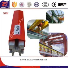 TBWL 1000A aluminum insulated conductor rail used for workshop