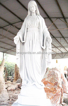 Hot Sale White Marble Virgin Mary Stone Statue