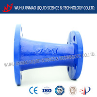 Double flanged taper DN250 ductile iron pipe fitting